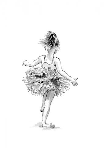 Ballet dancer Ink Illustration 1