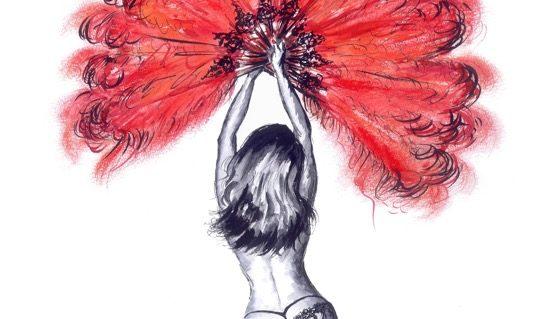 Burlesque Dancer Dancing by Migglet 2