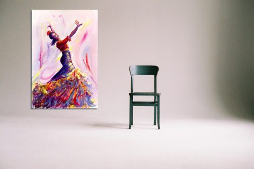 'Danza de la Passione' - Large Canvas With Chair
