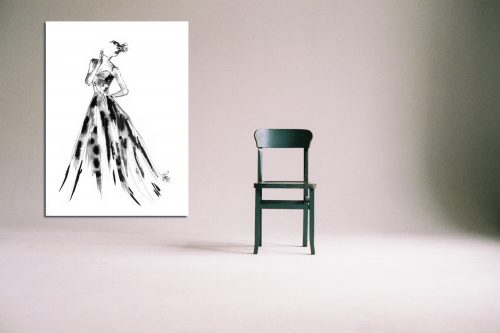 'Eleanor' - Large Canvas With Chair