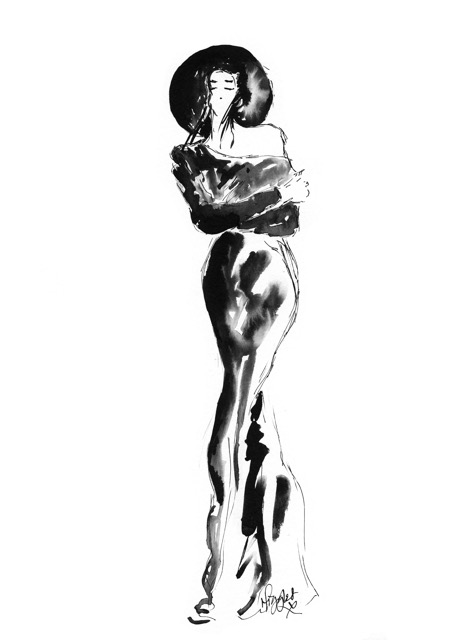 Fashion Ink Illustration 1