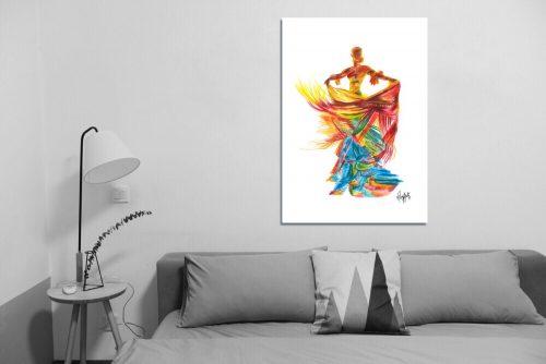 'Fire Dancer' - Large Canvas
