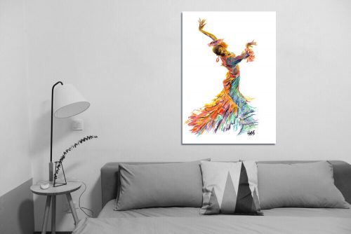 'Fuego Dance' - Large Canvas