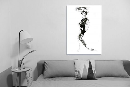 'Geisha' - Large Canvas
