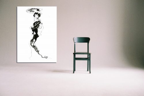 'Geisha' - Large Canvas With Chair