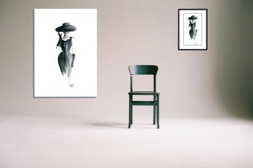 'Grace' - Large Canvas With Chair