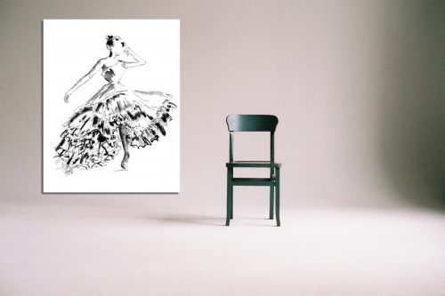 'Gracie' - Large Canvas With Chair