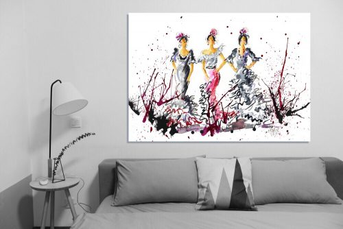'Here Come The Girls' - Large Canvas
