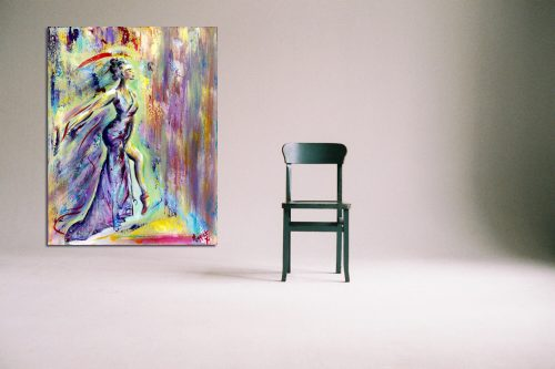 'Kobzarju' - Large Canvas With Chair