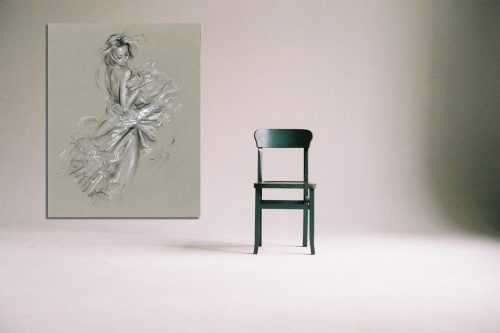 'Ksenia' - Large Canvas With Chair