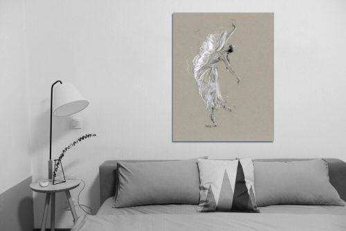 'La Mariposa Blanca' - Large Canvas