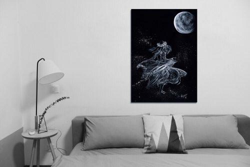 'Lela Moon' - Large Canvas