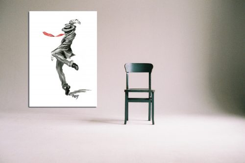 'Luigi' - Large Canvas With Chair
