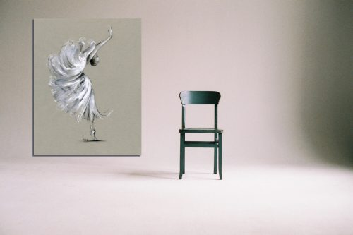 'Peonia' - Large Canvas With Chair
