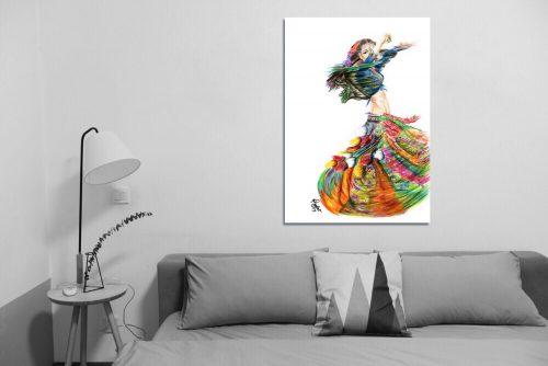 'Rainbow Gypsy' - Large Canvas