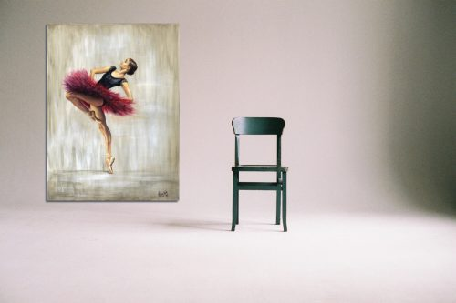 'Ruby' - Large Canvas With Chair