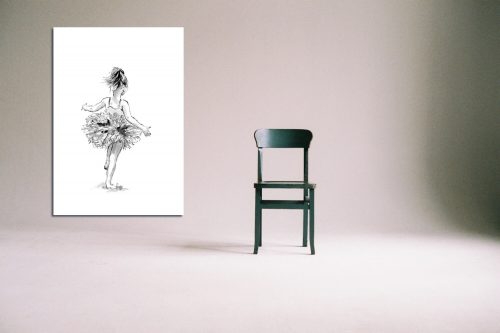 'Tiny Dancer ' - Large Canvas With Chair
