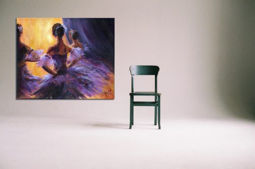 'Waiting in the Wings' - Large Canvas With Chair
