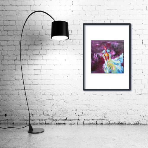 'Chicken George' - Framed print with Lamp