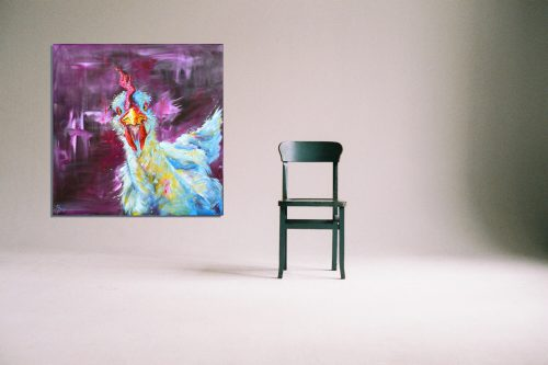 'Chicken George' - Wall Art with Chair