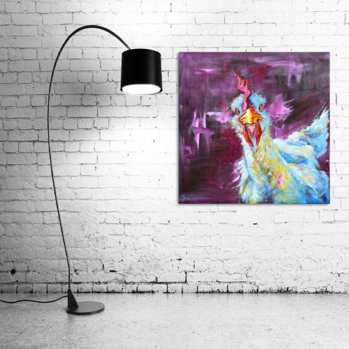 'Chicken George' - Wall Art with Lamp