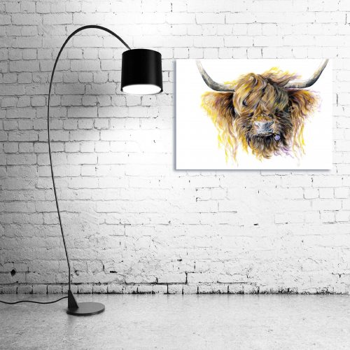 'Clover McMooFace' - Wall Art with Lamp