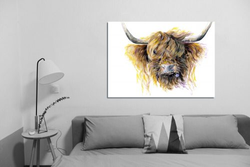 'Clover McMooFace' - Wall Art with Sofa