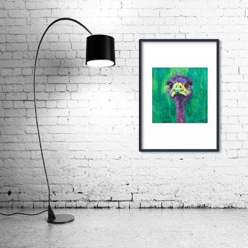 'Eric' - Framed print with Lamp