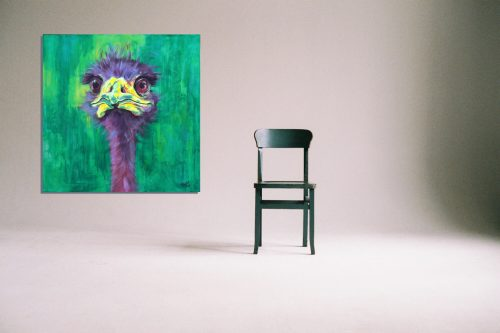 'Eric' - Wall Art with Chair
