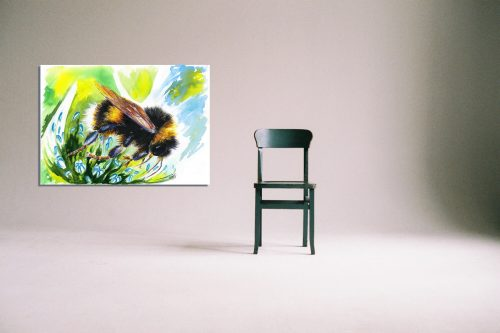 'Flight of the BumbleBee' - Wall Art with Chair