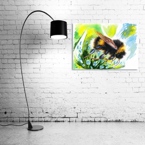 'Flight of the BumbleBee' - Wall Art with Lamp