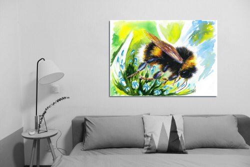 'Flight of the BumbleBee' - Wall Art with Sofa