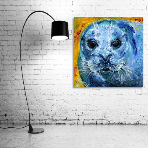 'Sealed with a Kiss' - Wall Art with Lamp