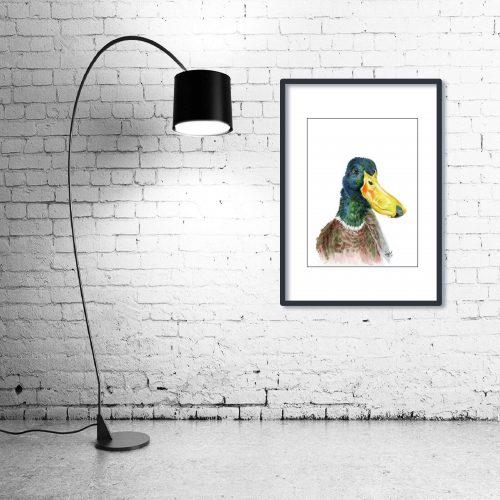 'Sir Noah Lot' - Framed print with Lamp