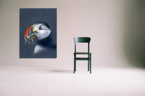 'Stuffin' Puffin' - Wall Art with Chair