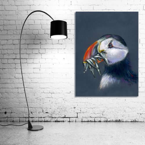 'Stuffin' Puffin' - Wall Art with Lamp