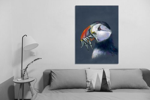 'Stuffin' Puffin' - Wall Art with Sofa