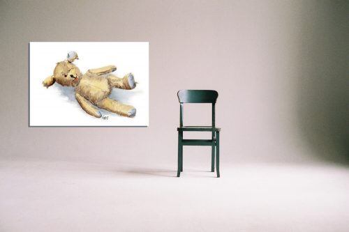 'Threadbare Ted' - Wall Art with Chair