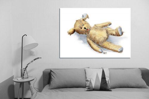 'Threadbare Ted' - Wall Art with Sofa