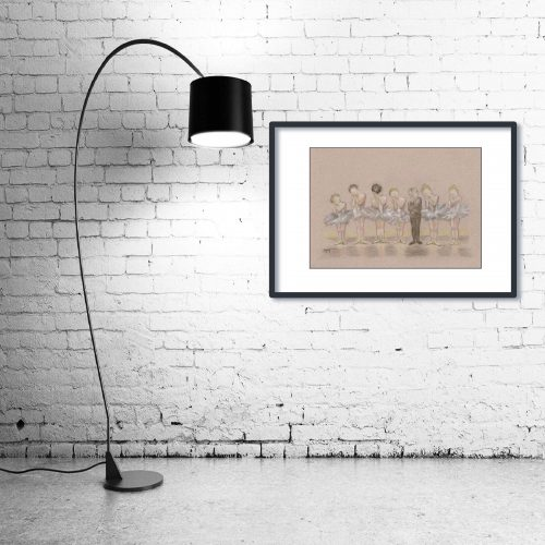 'Tiddlers ' - Framed print with Lamp
