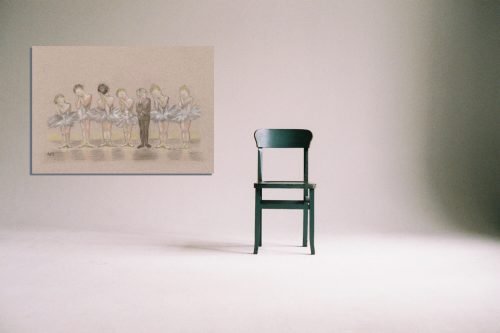 'Tiddlers ' - Wall Art with Chair