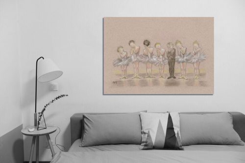 'Tiddlers ' - Wall Art with Sofa