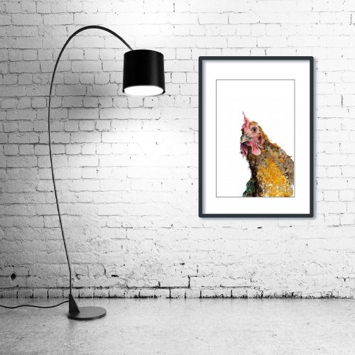 'Whaaaaat?' - Framed print with Lamp