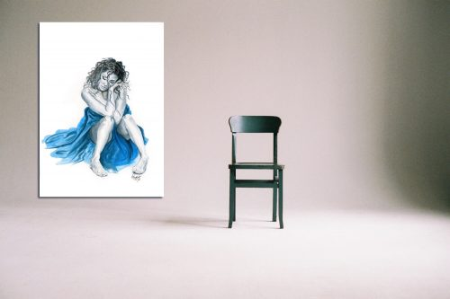 'Tranquility' - Large Canvas With Chair