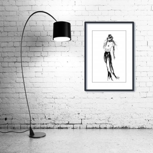 'Bobbie' - Wall Art with Lamp