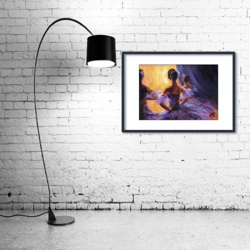 'Waiting in the Wings' - Wall Art with Lamp