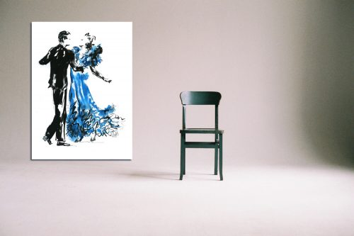 'Shall We Dance?' - Large Canvas With Chair