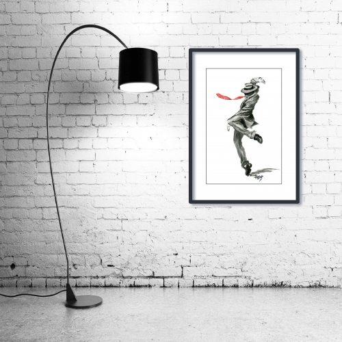 'Luigi' - Wall Art with Lamp