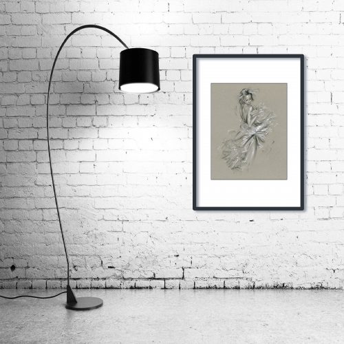 'Ksenia' - Wall Art with Lamp