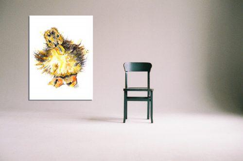 'Sir Noah Little' - Wall Art with Chair